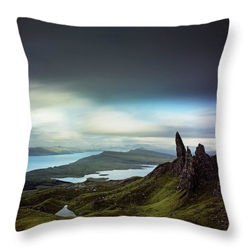 The Old Man Of Storr Throw Pillow