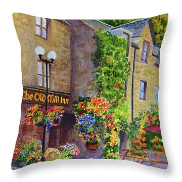 The Old Mill Inn Throw Pillow