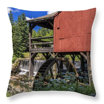 The Old Mill Museum. Throw Pillow