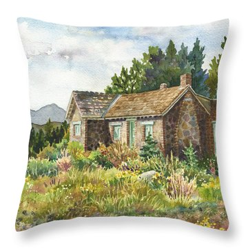 The Old Moore House At Caribou Ranch Throw Pillow
