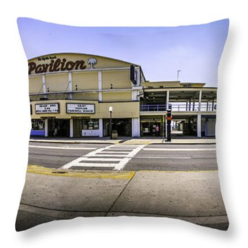The Old Myrtle Beach Pavilion Throw Pillow