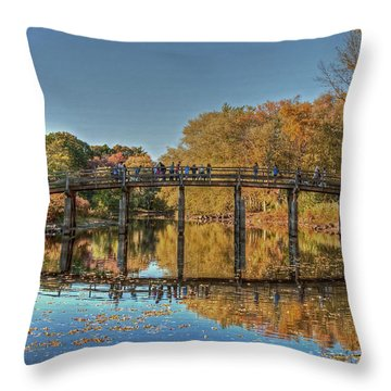 The Old North Bridge Throw Pillow