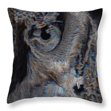 The Old Owl That Watches Throw Pillow by ISAW Gallery