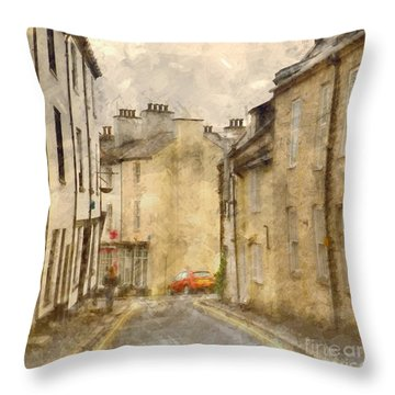 The Old Part Of Town Throw Pillow