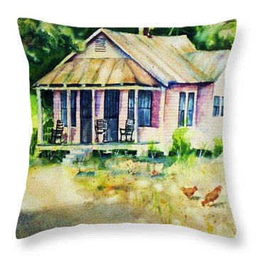 The Old Place Throw Pillow by Rebecca Korpita