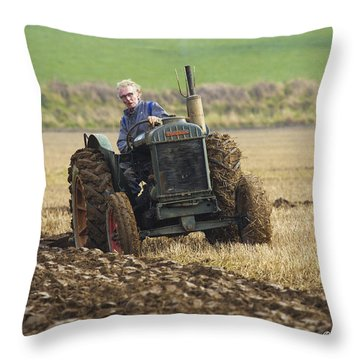 Throw Pillow featuring the photograph The Old Ploughman by Roy McPeak