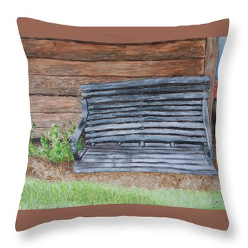 The Old Porch Swing Throw Pillow