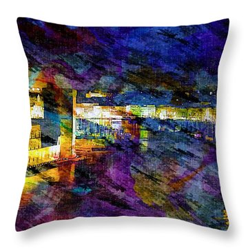 The Old Port Marseille 1 Throw Pillow