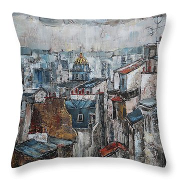 The Old Quarter II Throw Pillow