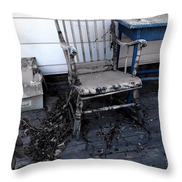 Throw Pillow featuring the photograph The Old Rocker by Jim Vance