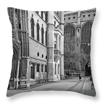 Throw Pillow featuring the photograph The Old Schools University Offices Cambridge by Gill Billington