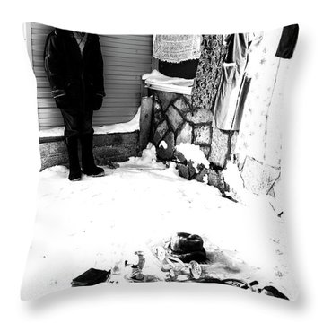 Throw Pillow featuring the photograph The Old Seller by John Williams