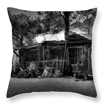 The Old Shed II Throw Pillow by David Patterson