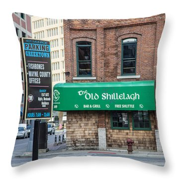The Old Shillelagh Detroit  Throw Pillow