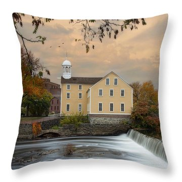 The Old Slater Mill Throw Pillow