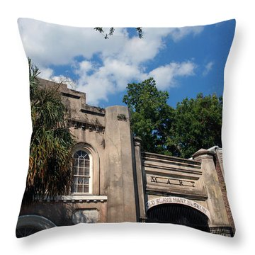 The Old Slave Market Museum In Charleston Throw Pillow by Susanne Van Hulst