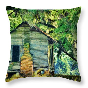 Throw Pillow featuring the photograph The Old Slaves Quarters by Jan Amiss Photography