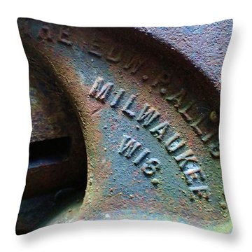The Old Stamp Mill- Findley Mine Throw Pillow
