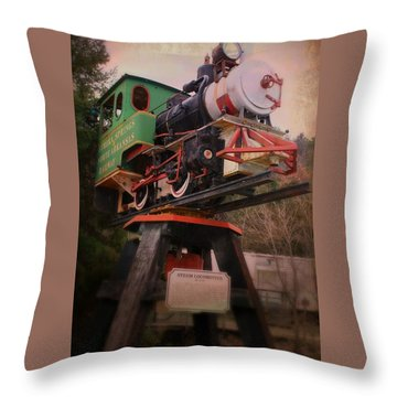 The Old Steam Locomotive Throw Pillow