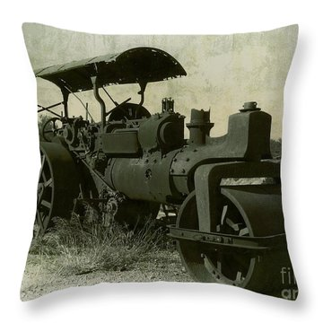 The Old Steam Roller Throw Pillow by Christo Christov