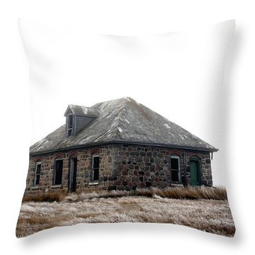 The Old Stone House Throw Pillow
