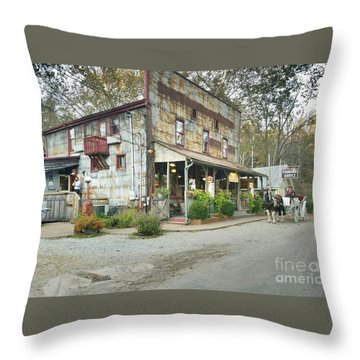 The Old Story Inn 1851 Nashville Indiana - Original Throw Pillow by Scott D Van Osdol