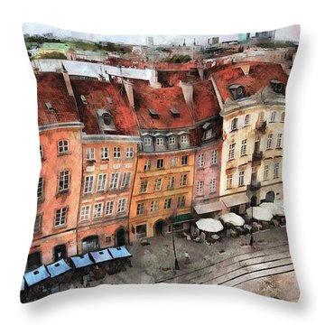 Old Town In Warsaw # 20 Throw Pillow