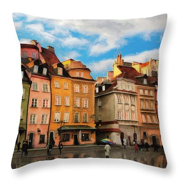 Old Town In Warsaw # 23 Throw Pillow