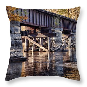 The Old Tracks Throw Pillow by John Crothers