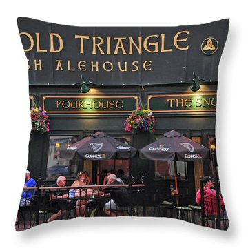 The Old Triangle Alehouse Throw Pillow