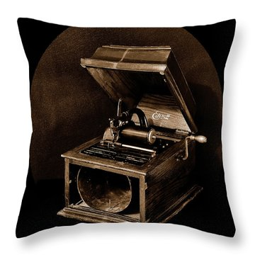 The Old Victrola Throw Pillow