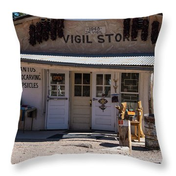 Old Vigil Store In Chimayo Throw Pillow