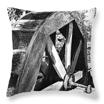 The Old Waterwheel Throw Pillow