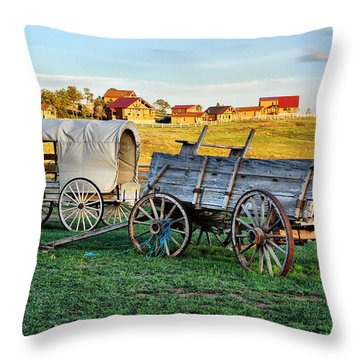 Throw Pillow featuring the photograph The Old West by Barbara Manis
