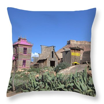 The Old Western Town  Throw Pillow