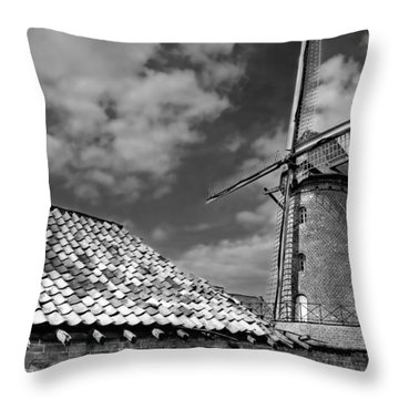 The Old Windmill Throw Pillow by Jeremy Lavender Photography