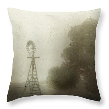 The Old Windmill Throw Pillow by Jill Smith