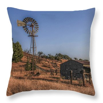 Throw Pillow featuring the photograph The Old Windmill by Break The Silhouette