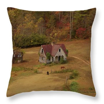 The Oldest House In North Carolina Throw Pillow
