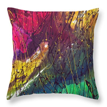 Throw Pillow featuring the painting The Oldest by Rick Baldwin