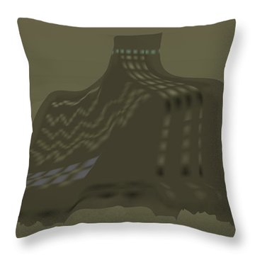 The Olive Citadel Throw Pillow