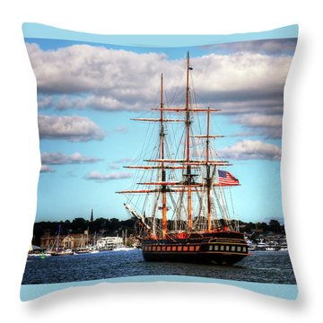 Tall Ship The Oliver Hazard Perry Throw Pillow