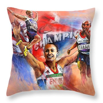 The Olympics Night Of Gold Throw Pillow