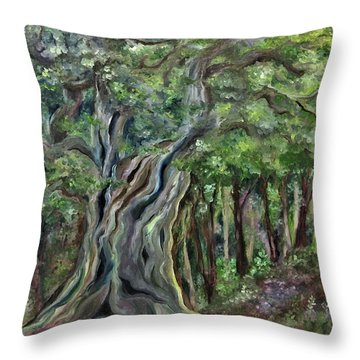 The Om Tree Throw Pillow