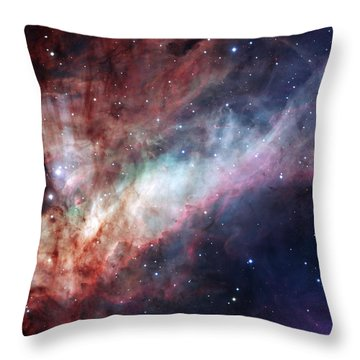 Throw Pillow featuring the photograph The Omega Nebula by Eso
