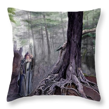 The One-eyed Wanderer Throw Pillow