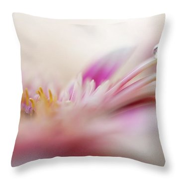 Throw Pillow featuring the photograph The One. Macro Gerbera by Jenny Rainbow