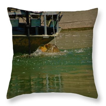 Throw Pillow featuring the photograph The One That Got Away by Ramona Whiteaker