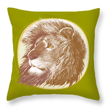 The One True King Throw Pillow by J L Meadows