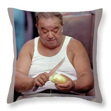 The Onion Man Throw Pillow
